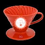 Kahvemin Tadı Dripper V60 02 Ceramic RED